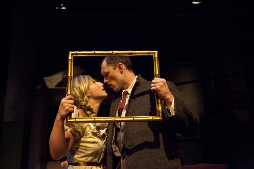Emily Levey and James Finley in NextStop Theatre's Production of -The 39 Steps-   (Photo; Rebekah Purcell, VSION)_1600x1067