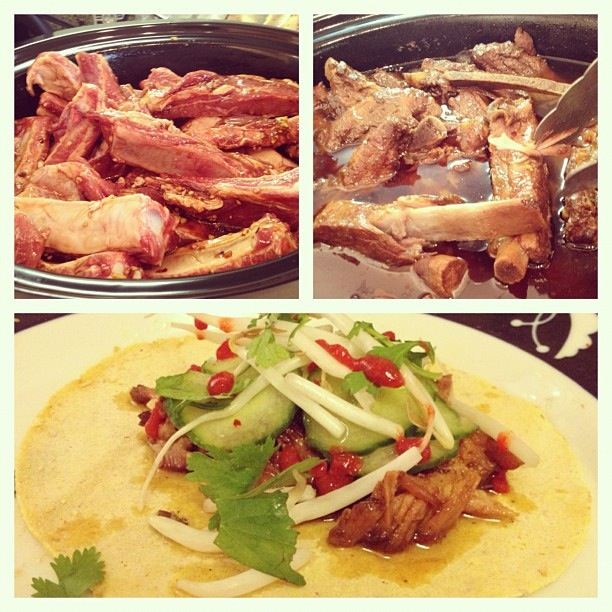 Slow cooker Korean beef tacos by Alex Reed
