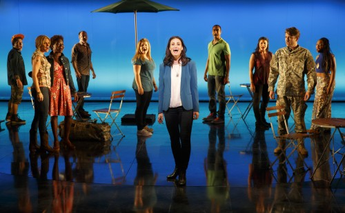 Idina Menzel and company in If/Then at the National Theatre. Photo by Joan Marcus.