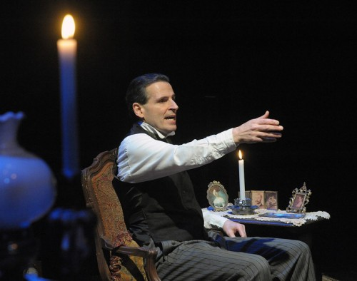 "Paul Morella in 'A Christmas Carol: A Ghost Story of Christmas."" Photo by Stan Barouh."