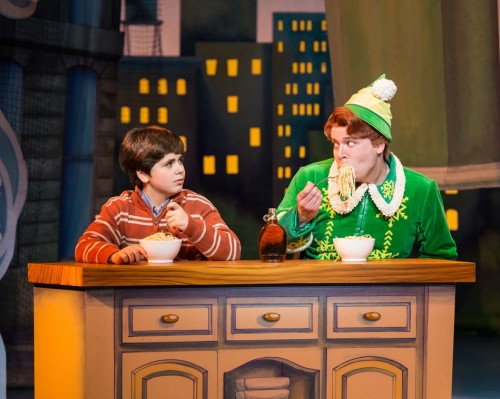 Noah Marlowe and Will Blum in Elf at the Kennedy Center
