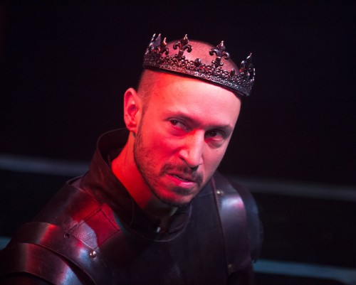 Drew Cortese stars as King Richard in Folger Theatre's production of Richard III. At the Folger Theatre January 28 – March 9, 2014. Photo by Jeff Malet.
