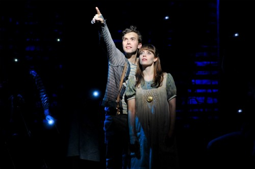 Joey deBettencourt as Boy and Megan Stern as Molly in Peter and the Starcatcher.  Photo by Jenny Anderson.
