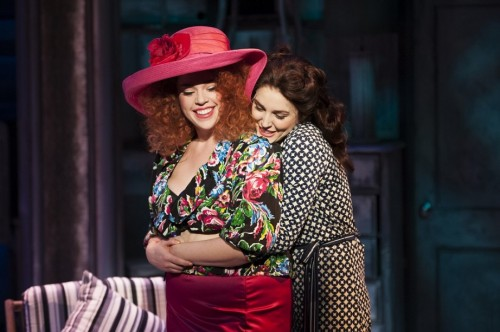Alysha Umpress as Cee Cee (left) Mara Davi as Bertie (right).  Photo by Margot I. Schulman.