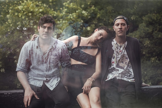 Charlie Hilton (center) of Blouse talks to We Love DC (Photo courtesy Captured Tracks)
