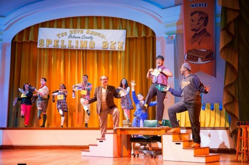 "The cast of ""The 25th Annual Putnam County Spelling Bee."" Photo by Scott Suchman."