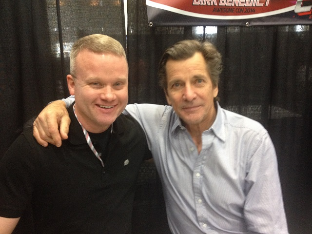 The author and Dirk Benedict