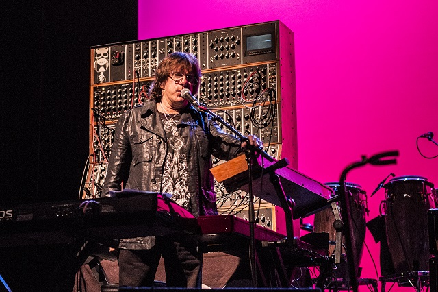 Keith Emerson performs on his modular Moog synthesizer (Photo courtesy Moogfest)