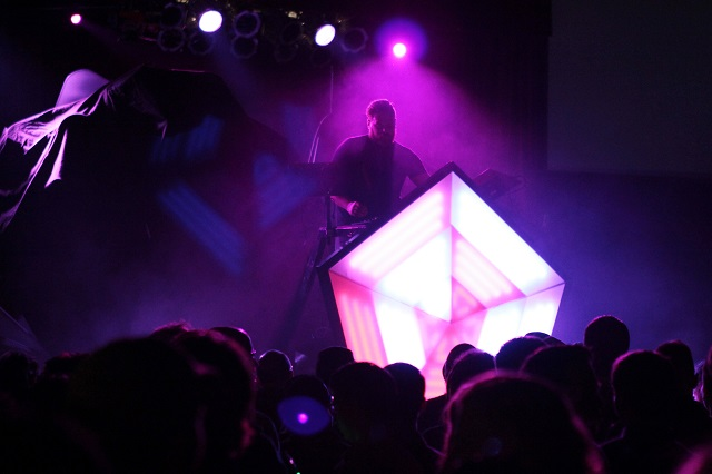 Com Truise and his pentagon (Photo courtesy Moogfest)