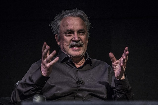 Giorgio Moroder speaks at a panel (Photo courtesy Moogfest)