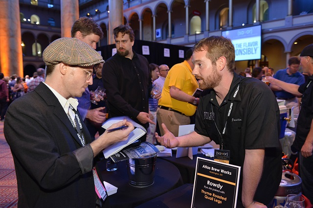 Atlas Brew Works was among the local breweries exhibiting. (PHOTO © 2014 Eddie Arrossi)