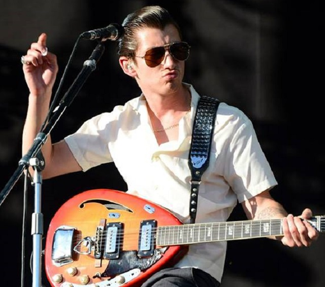 Alex Turner of Arctic Monkeys -- style by Dave Gahan? (Photo courtesy Firefly Music Festival)
